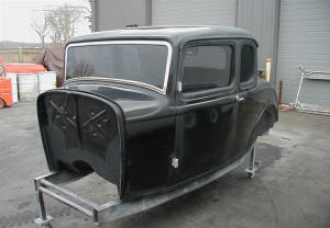 1932 Ford 5 Window 3 Chop Graffiti Style Coupe